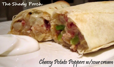 Cheesy Potato Popper Wraps by The Shady Porch