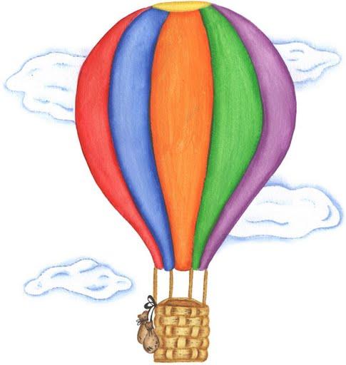 hot air balloon balloon flying in the clouds printable hot air balloon
