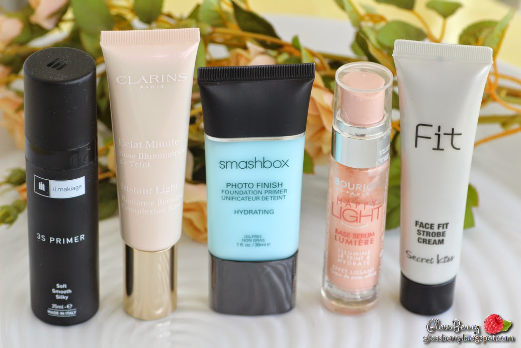 smashbox photo finish foundation primer hydrating face fit strobe cream bourjois happy light luminous serum primer clarins instant light radiance boosting primer base review swatches פריימר בסיס לאיפור סמאשבוקס קלרינס בורז'ואה עור יבש il makiage איל מקיאז' מקיאג'