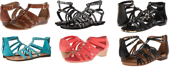 Gladiator sandals deals shopping spring 2015