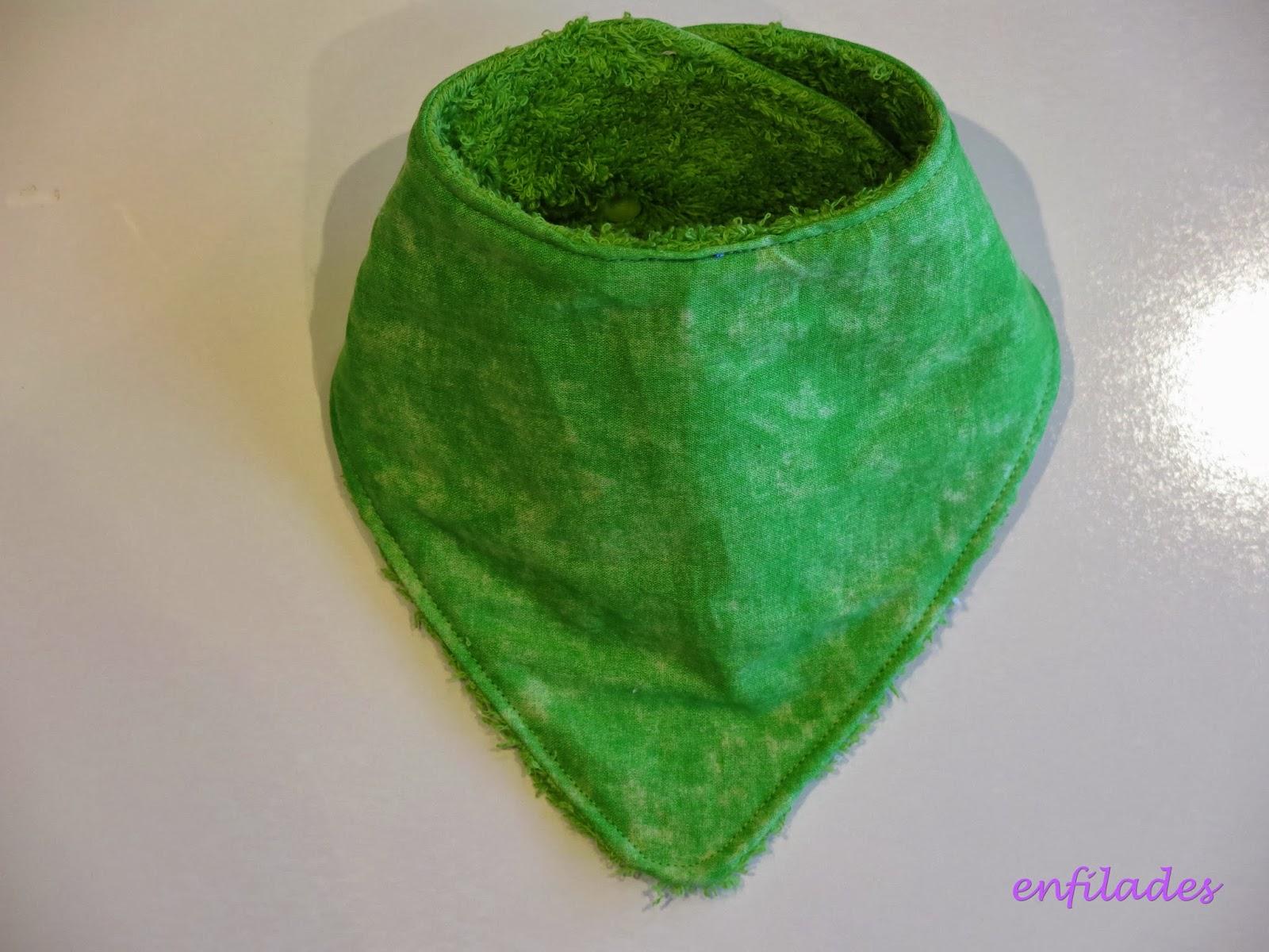 pitet bandana verd llima - serie Escola enfilades.cat