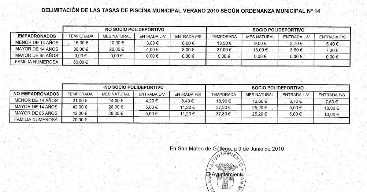 El blog de san mateo de g llego precios de entradas y - El tiempo en san mateo de gallego ...