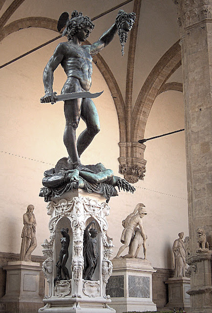 Benvenuto Cellini's Perseus with the Head of Medusa.