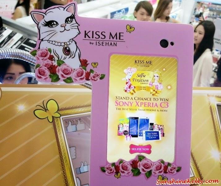 KISS ME Selfie, Kiss Me Selfie Contest, KISS ME Selfie Station, KISS ME Selfie Fixation Contest, KISS ME Heroine Make Lasting Mineral BB Cream,