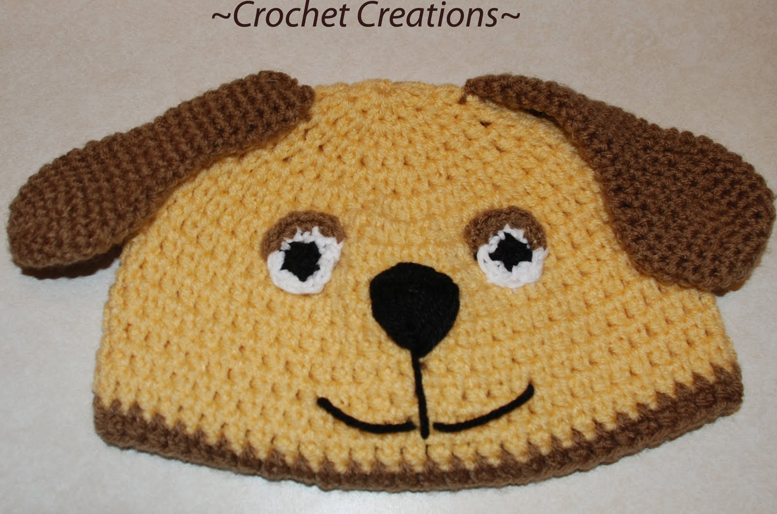Amys Crochet Creative Creations: Crochet Puppy Dog Hat (All Sizes)