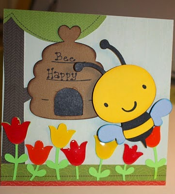 handmade bee cards