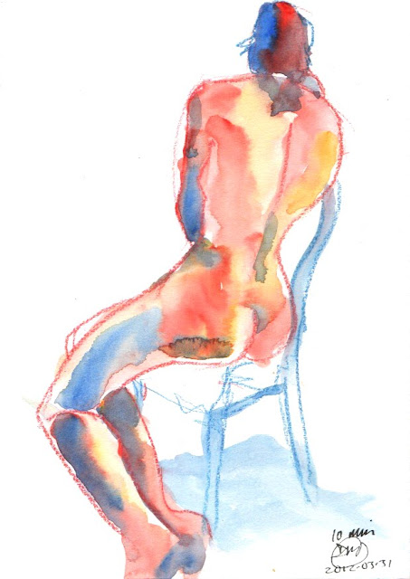 10 minute watercolour sketch by David Meldrum