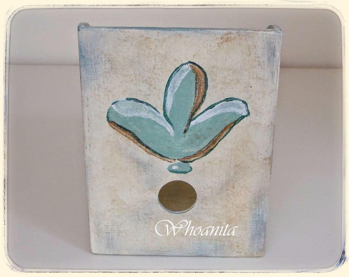 Pudełko na płyty Lilia, przecierki, malowanie