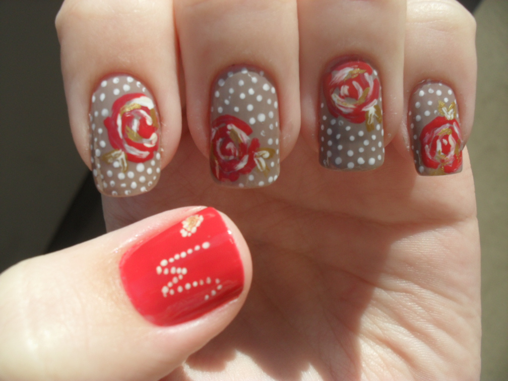 Hairstyle and Fashion: Mother\'s Day Nail Art Design