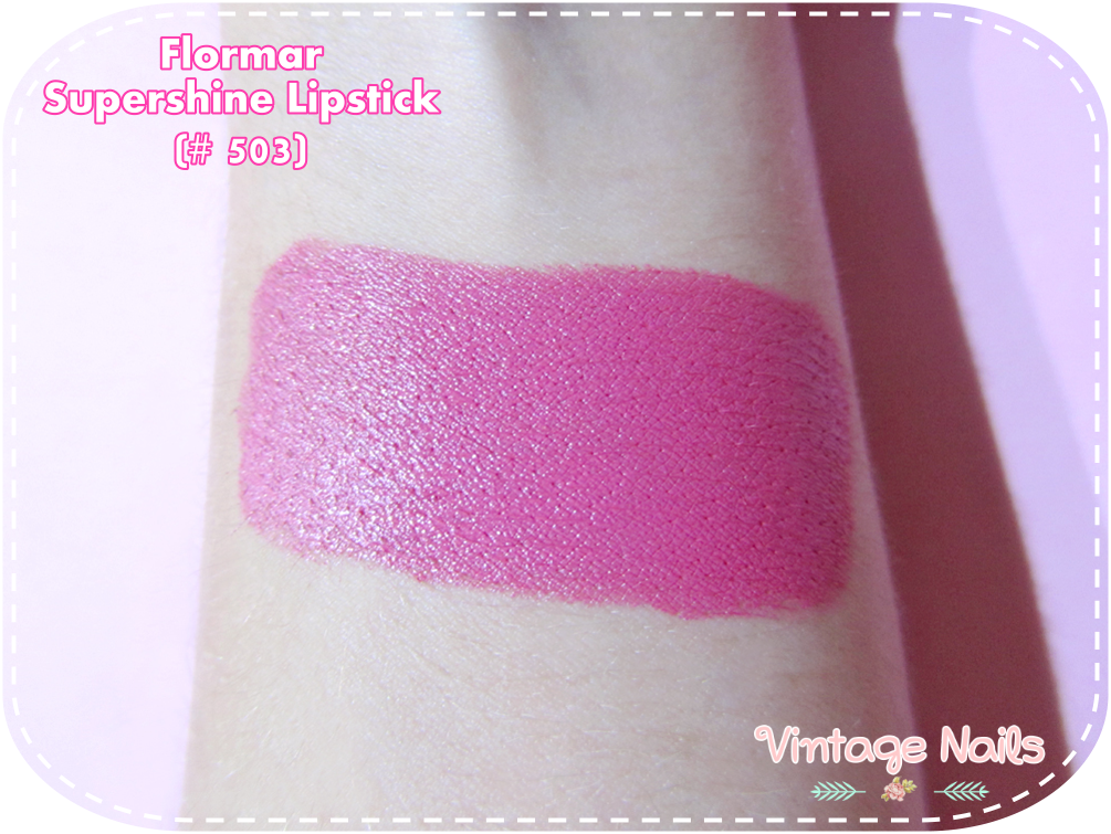 flormar, labial, lipstick, review, swatch, supershine lipstick, cruelty-free