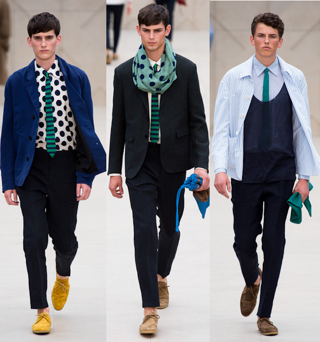 Burberry mens spring 2014 polka dot shirts