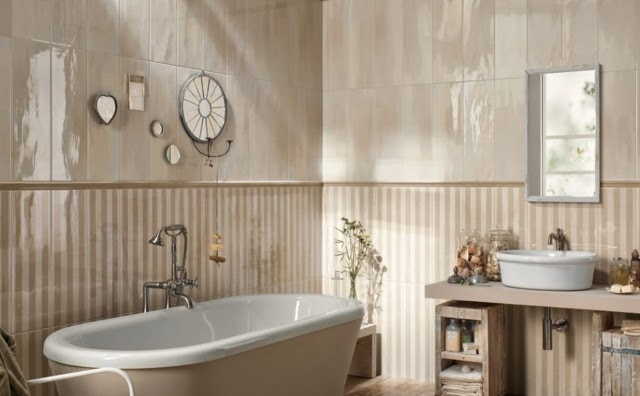 New tile design ideas and trends for modern bathroom designs for Light brown bathroom ideas