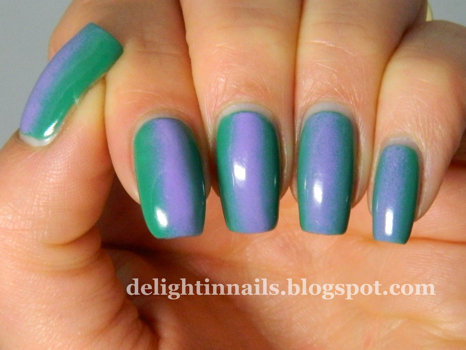 Lilac and Teal Gradient