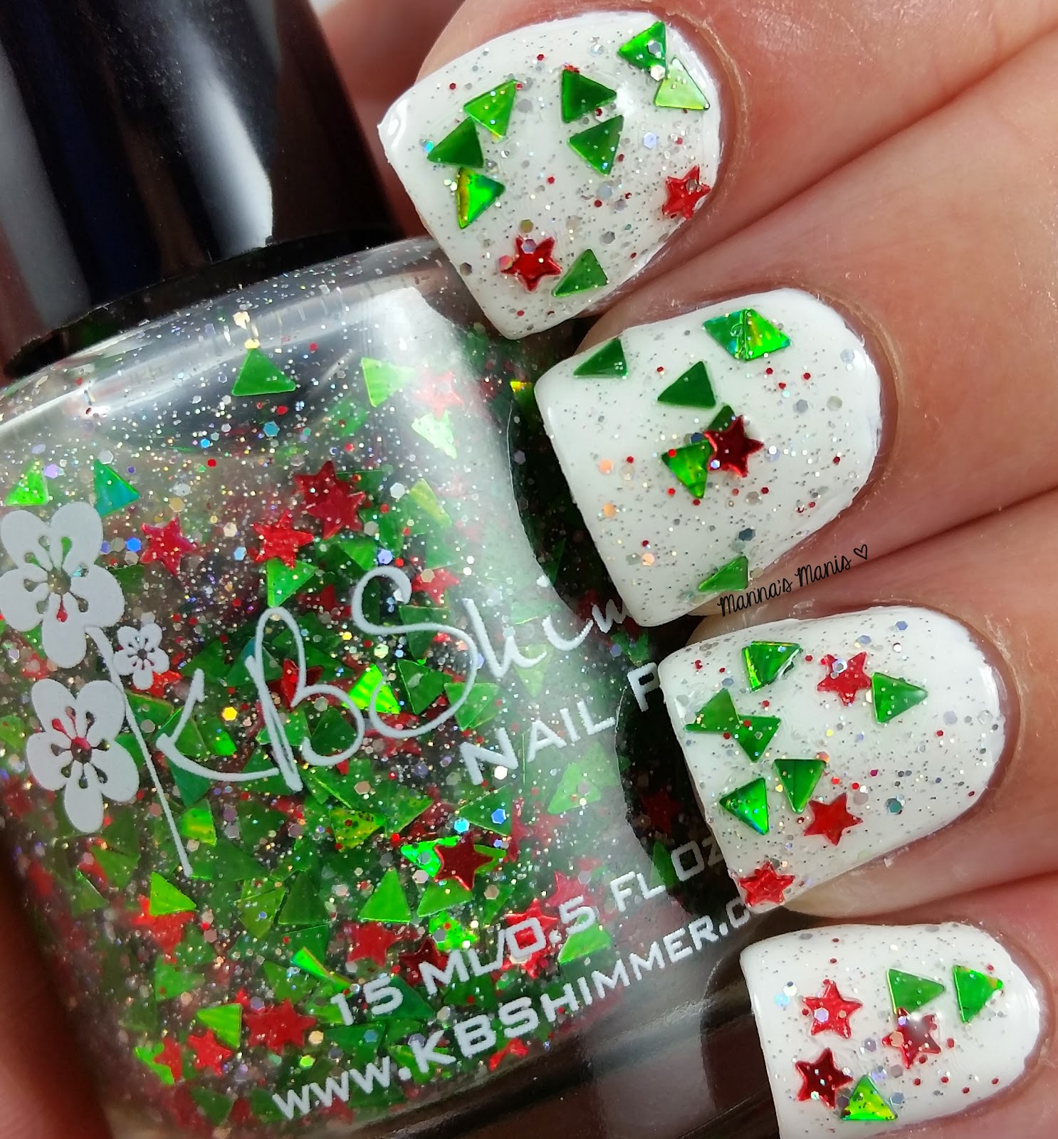 kbshimmer pineing for yule, a multicolored glitter topper