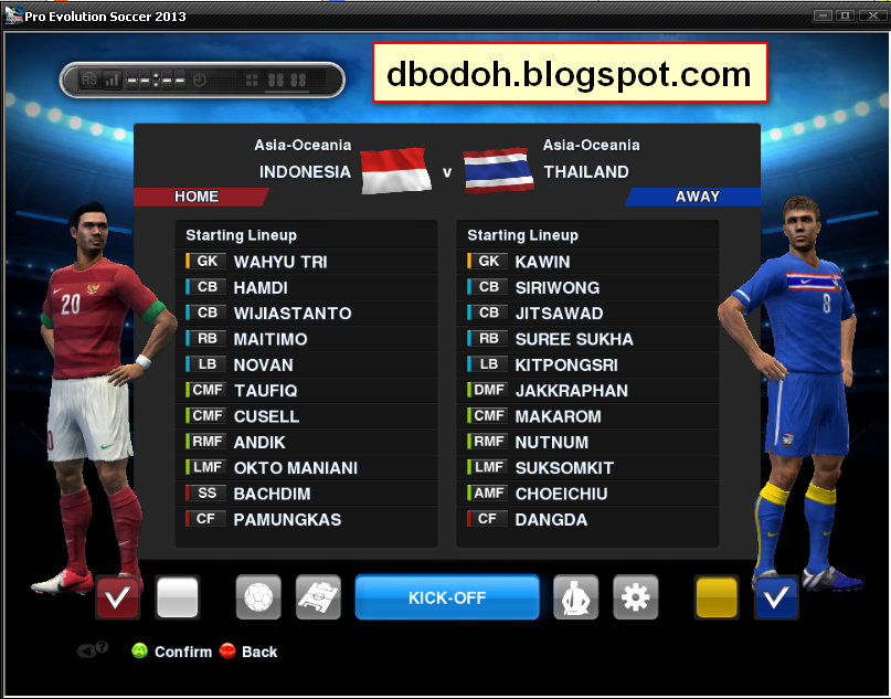 Indonesia Vs Thailand Screen