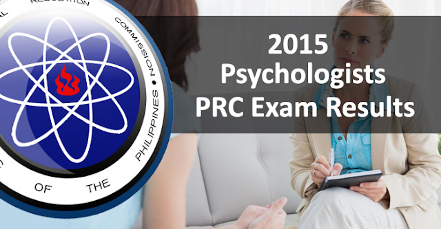 Top 3 Placers in July 2015 Psychologists Board Examination Result