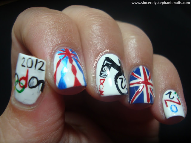 olympic nail art