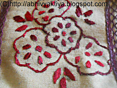 desing using back stitch