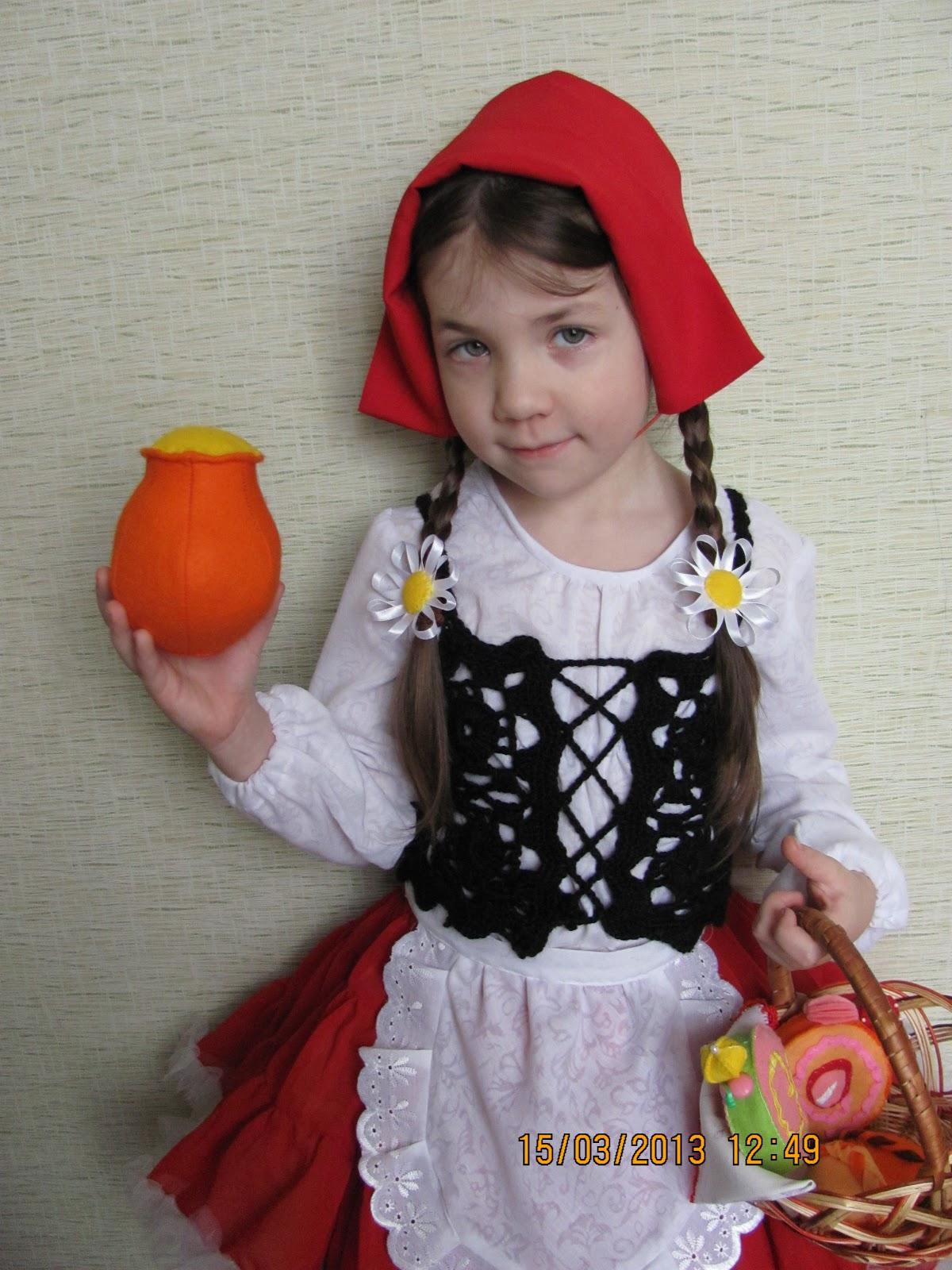 Красная шапочка для костюма своими руками 693
