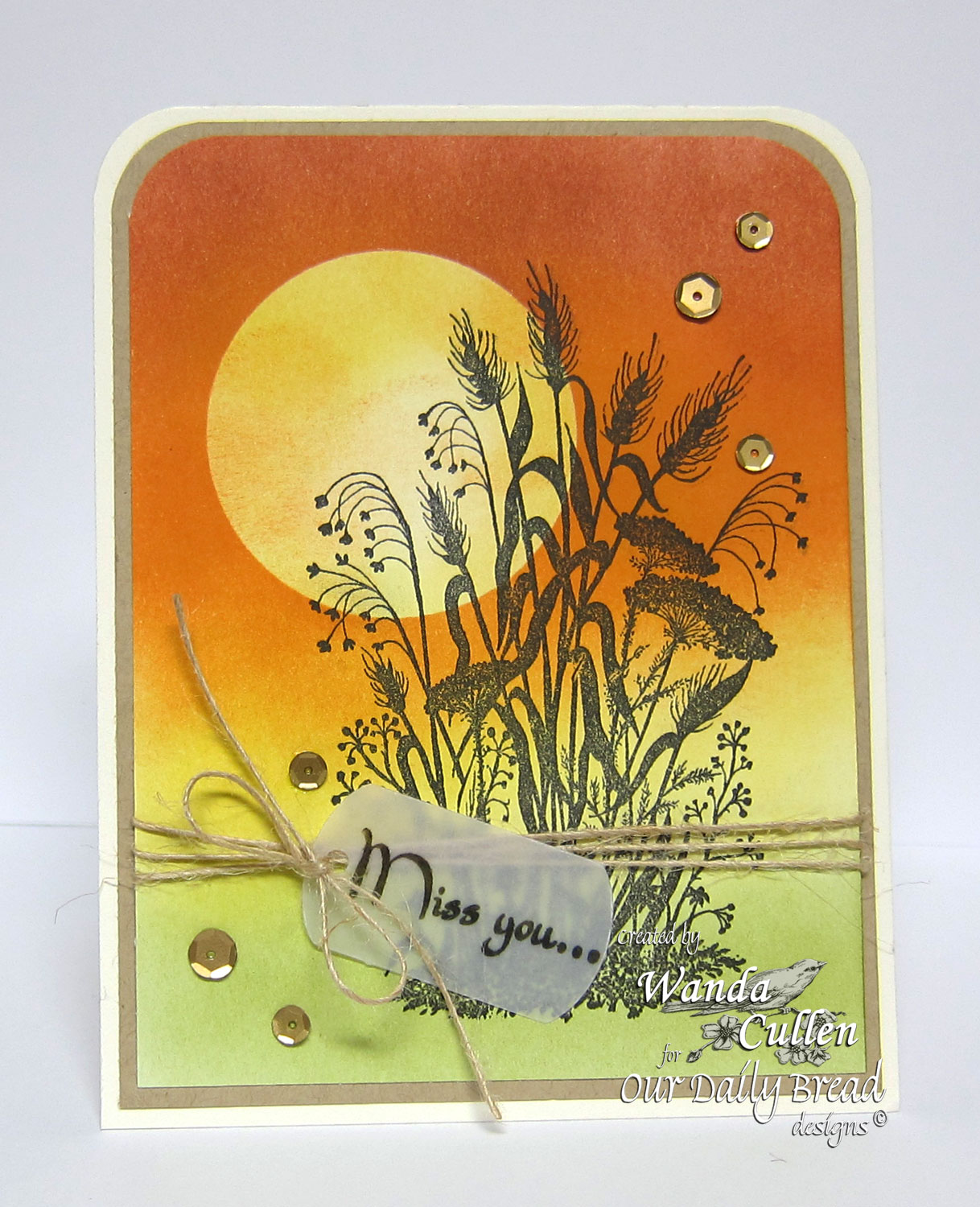 Stamps - Our Daily Bread Designs Miss You, ODBD Custom Mini Tags Dies