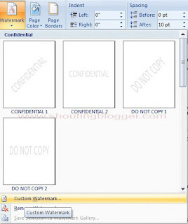 How To Add Watermark in Microsoft Word 2007