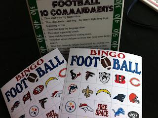 NFL Football Bingo Game Printable