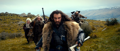 Thorin Oakenshield and the dwarfs in The Hobbit