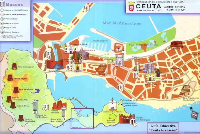 mapa socio-político de Ceuta.
