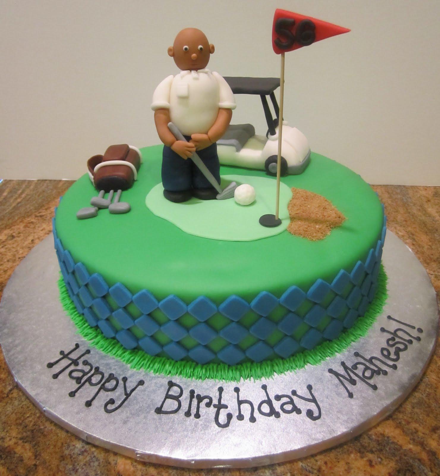 Sweet Melissa s: Golf Cake