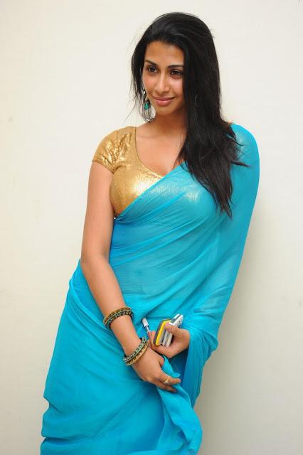 Kannada Actress Gayathri Iyer Hot Saree Expose Pics