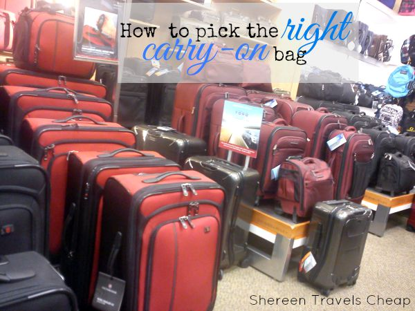 finding the right carry-on bag
