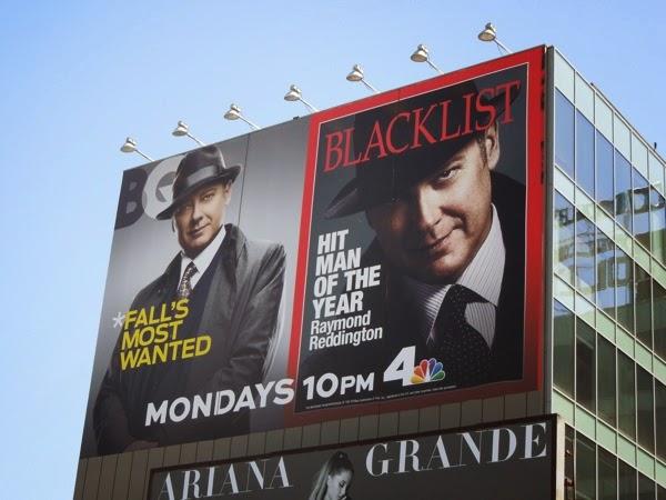 The Blacklist season 2 giant magazine cover billboards