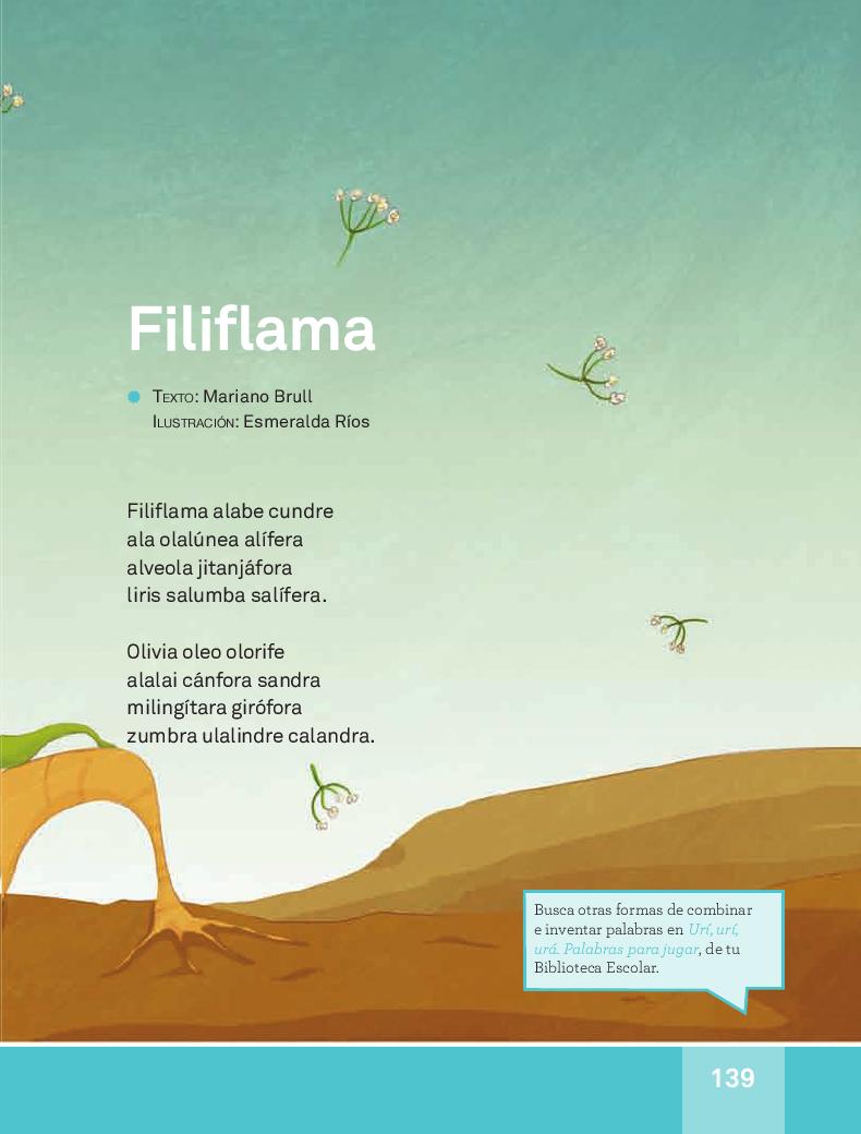 Filiflama - Español Lecturas 3ro 2014-2015
