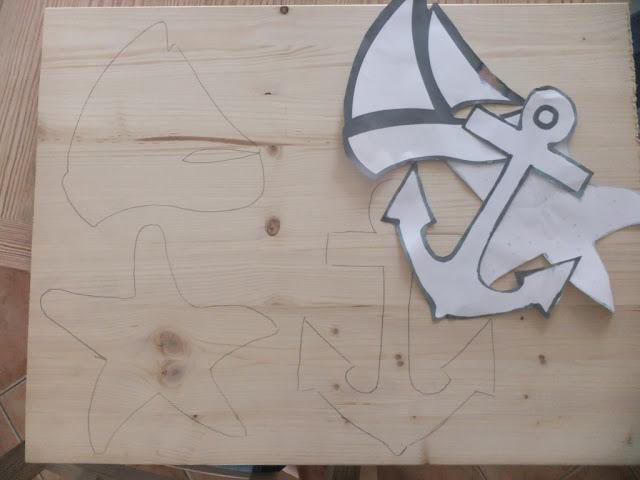 Gartendeko aus Holzpfosten