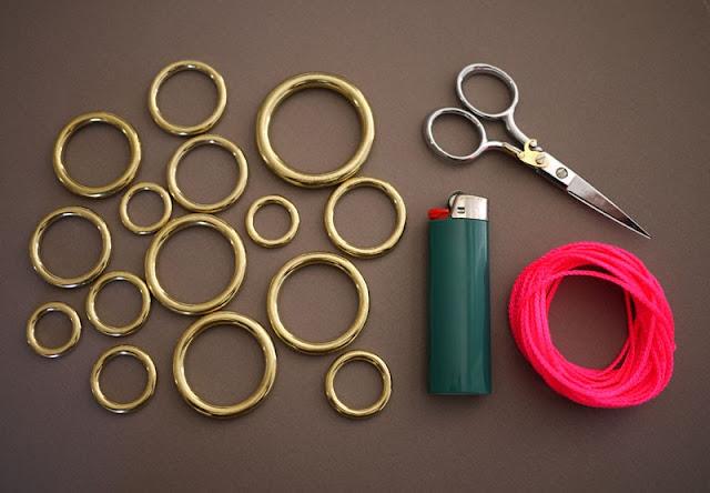 DIY Maxi colar metal