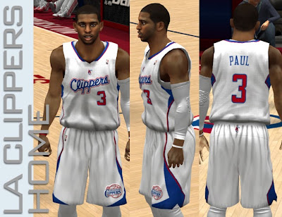 NBA 2K13 L.A. Clippers Home Jersey Patch