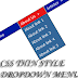 CSS Thin Style Dropdown Menu For Blogger