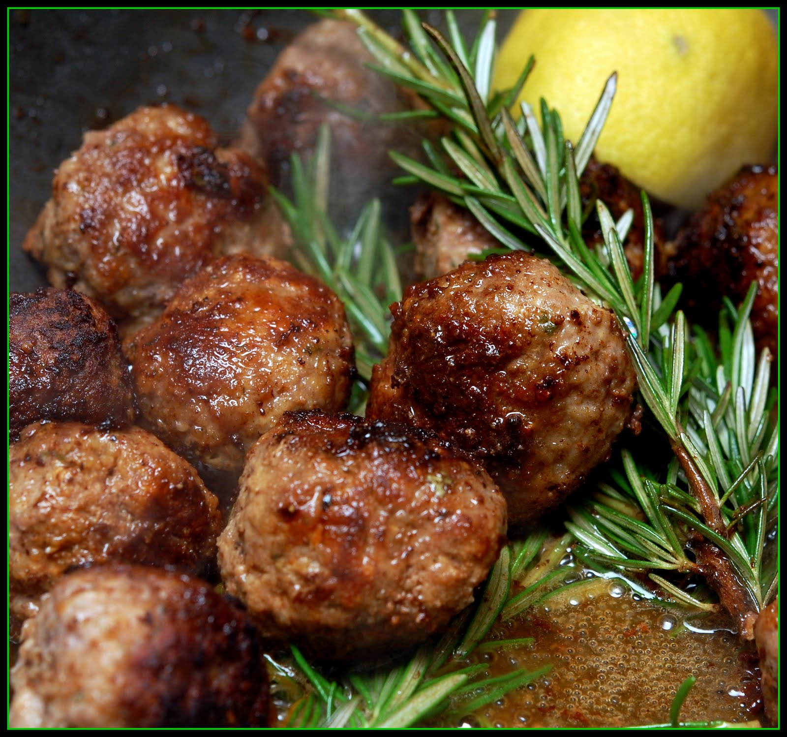 LEMON ROSEMARY MEATBALLS! MMMMMMMM! - Hugs and Cookies XOXO