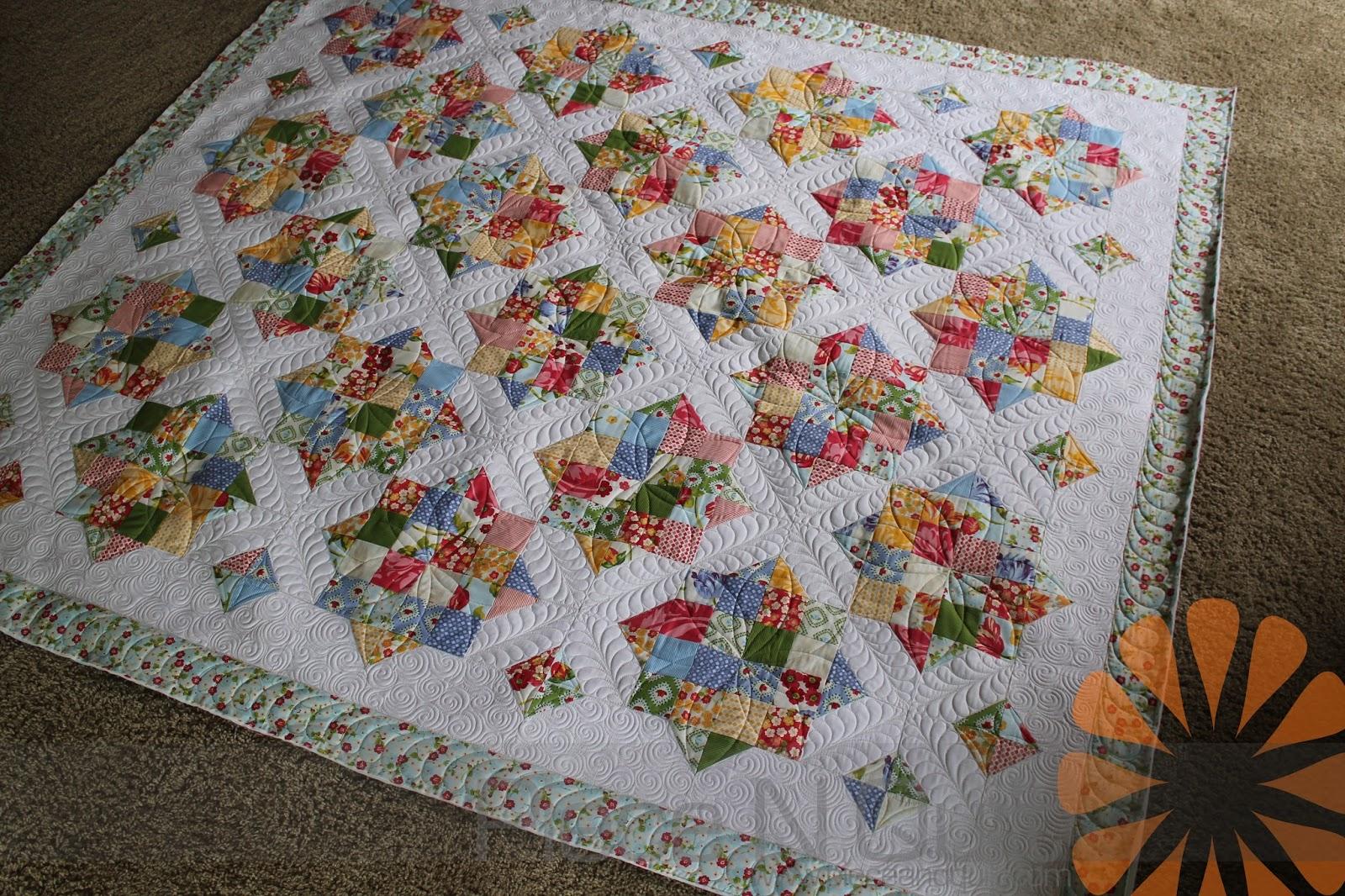 Piece N Quilt Custom Machine Quilting A Scrappy Quilt By