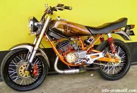 modifikasi motor yamaha rx king airbrush