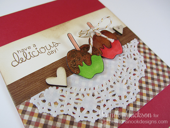 Delicious Day Apple Card by Jennifer Jackson | Apple Delights Stamp set by Newton's Nook Designs