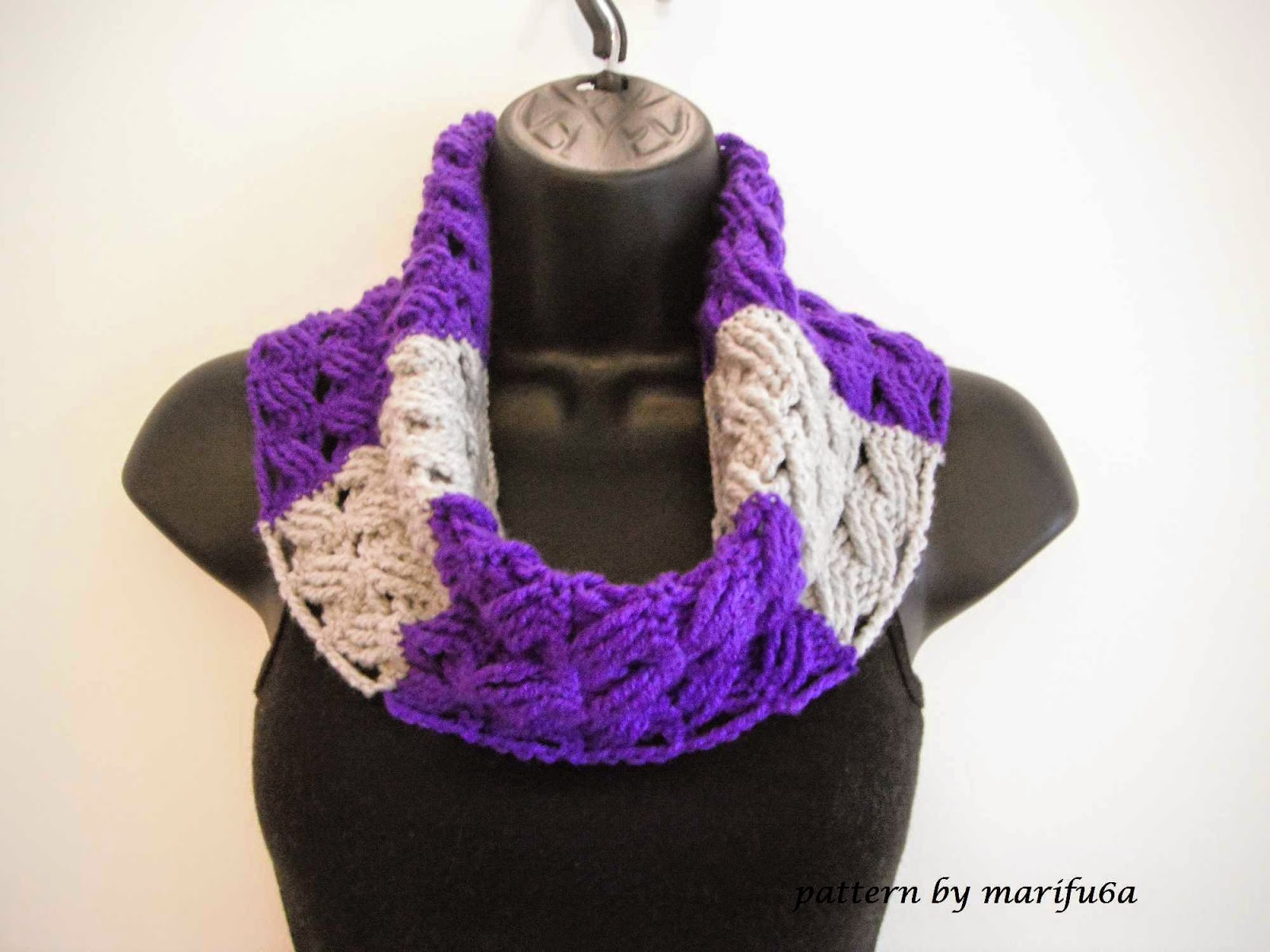 crochet patterns and video tutorials: how to crochet cowl free pattern ...