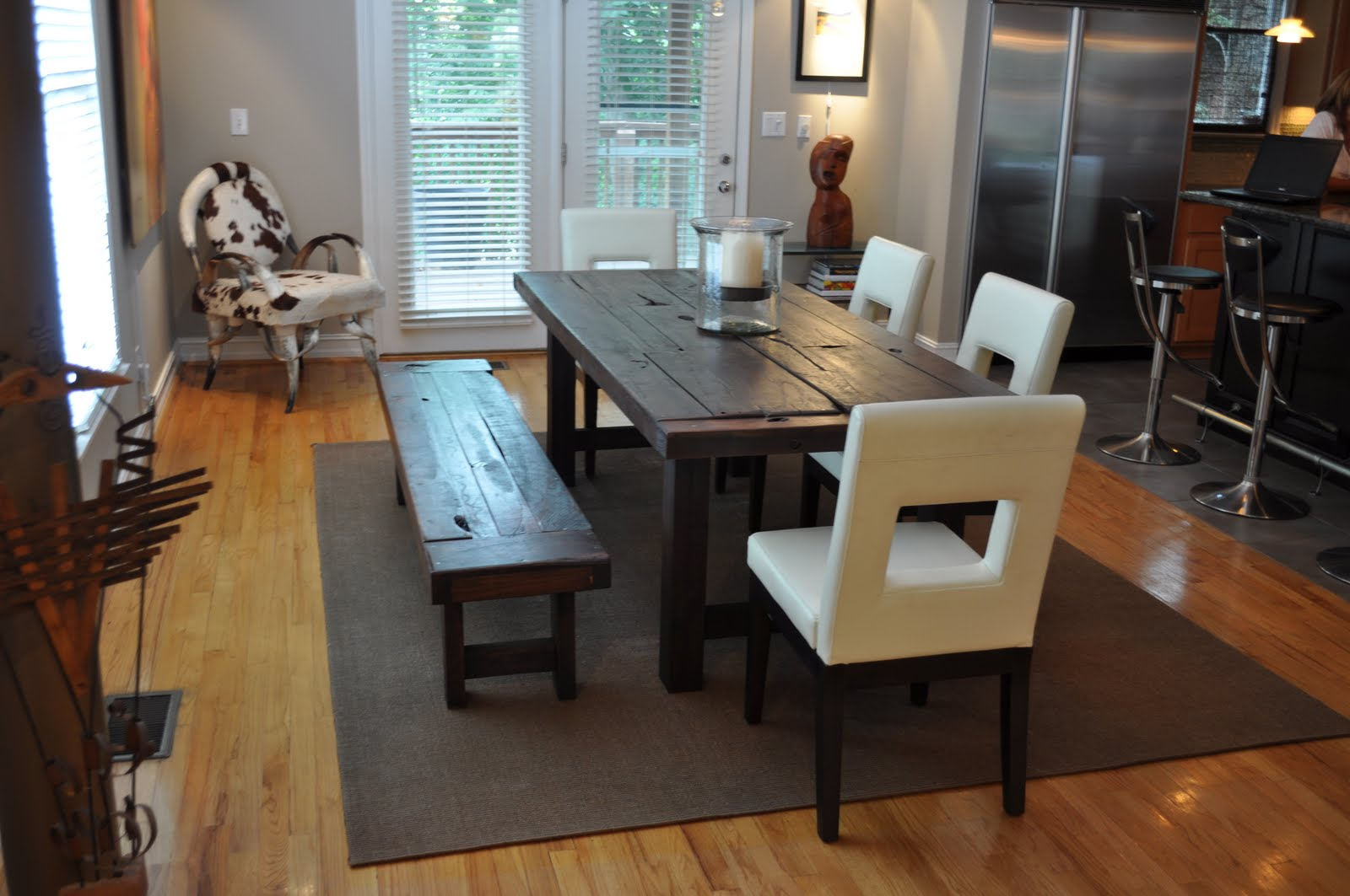 Superbe U201cThe Claytonu201d Custom, Handmade Dining Table With Extra Distressing Features  $1700