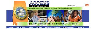 screenshot of ACCESS website