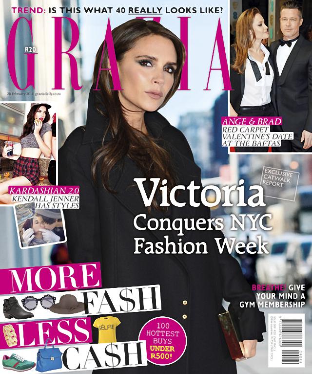 Victoria Beckham en Grazia Magazine South Africa Febrero 2014