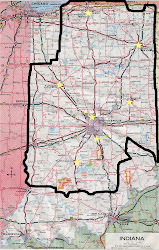Map of Indiana Indianapolis Mission boundaries