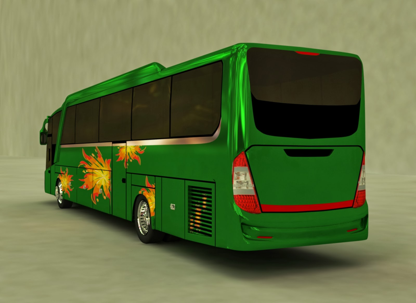 Design 3D Beat Bus rear
