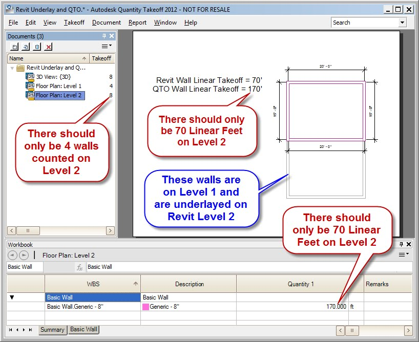 how to see underlay walls not floor revit