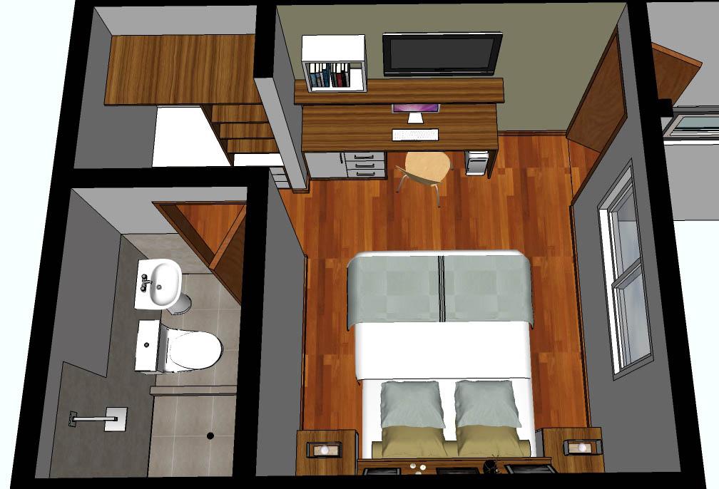 Oniria minidepartamento de 30 m2 for Diseno minidepartamento