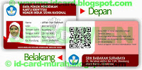 buat kartu pelajar siswa nisn nasional murah bandung idcard